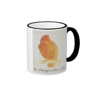 El pájaro anaranjado del color, de 'dieciséis dibu tazas de café