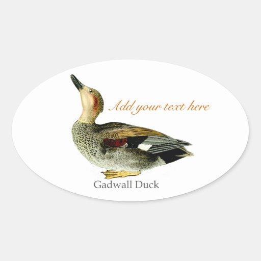 el pájaro aprisa crea la plantilla calcomania oval personalizadas