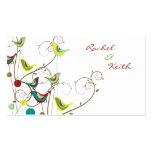 El pájaro colorido y los remolinos del verano colo tarjeta personal