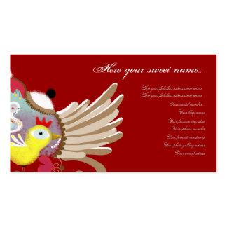 El pájaro de bebé se va volando la tarjeta de visi tarjetas de negocios