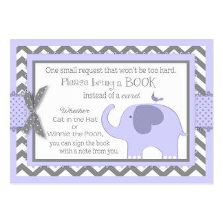 El pájaro de elefante de la lavanda trae una tarjetas de visita grandes