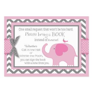 El pájaro de elefante rosado trae una tarjeta de tarjetas de visita grandes