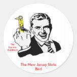 El pájaro de estado de New Jersey Pegatinas Redondas