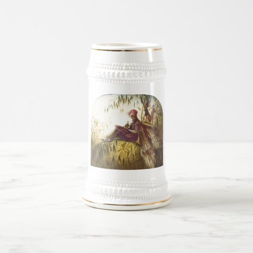 El pájaro de hadas del halconero tazas de café