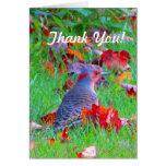 El pájaro de la caída le agradece cardar felicitacion