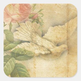 El pájaro de la canción trae paz pegatina cuadrada