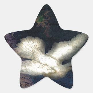 El pájaro de la canción trae paz pegatina en forma de estrella