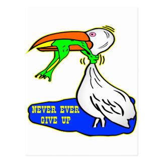 El pájaro de la obstrucción de la rana da nunca tarjeta postal