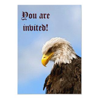 """El pájaro de ruega Eagle calvo Invitación 5"""" X 7"""""""