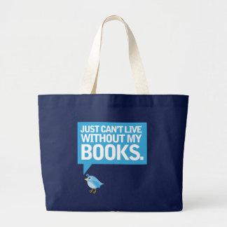 El pájaro del libro apenas no puede vivir sin mi r bolsas de mano