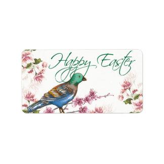 El pájaro el la primavera ramifica las etiquetas f etiquetas de dirección