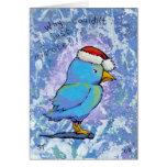 El pájaro enojado de Santa emigra 4 el arte minúsc Felicitacion