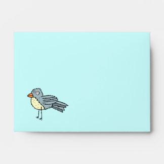 El pájaro enrrollado de la granja recicló pío del  sobres