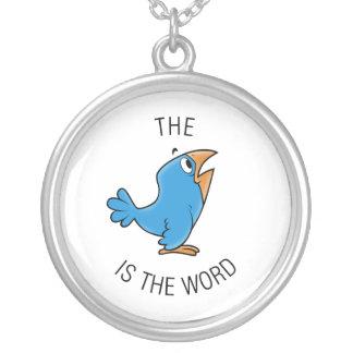 El pájaro es la palabra colgante redondo
