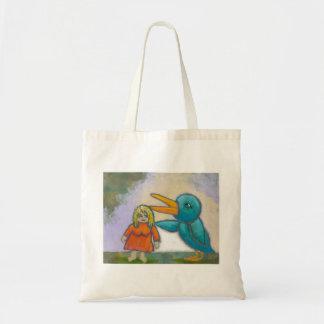 El pájaro gigante de la mujer jugó un arte único i bolsas