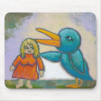 El pájaro gigante de la mujer jugó un arte único i alfombrilla de ratón