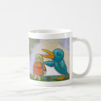 El pájaro gigante de la mujer jugó un arte único i taza