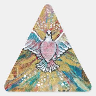 El pájaro grande pegatina triangular