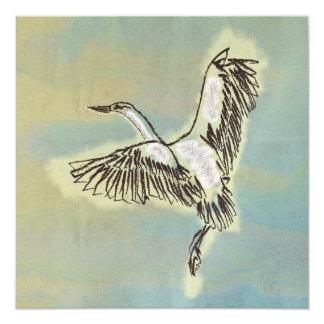 El pájaro le agradece cardar el vuelo salvaje de invitación 13,3 cm x 13,3cm