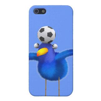 El pájaro lindo 3d juega al fútbol (editable) iPhone 5 funda