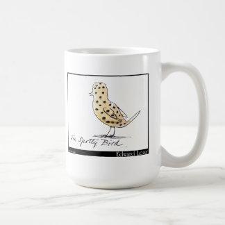 El pájaro manchado de Edward Lear Taza Básica Blanca