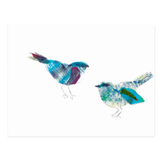 El pájaro más lindo del azul del gorjeo tarjeta postal