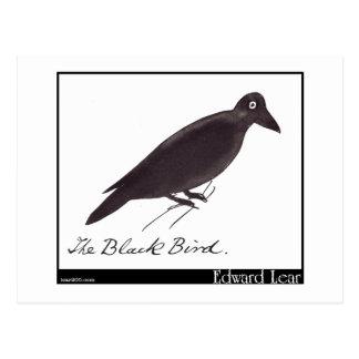 El pájaro negro de Edward Lear Postales