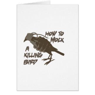 El pájaro principal tarjeta de felicitación