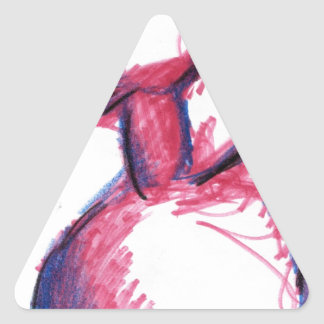 El pájaro que habla del fuego pegatina triangular