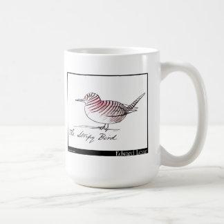 El pájaro rayado de Edward Lear Taza Básica Blanca