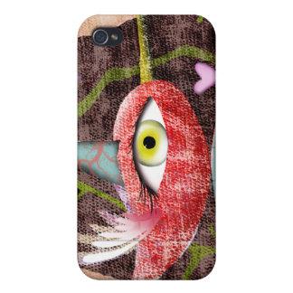 El pájaro rojo apenó el viejo caso diseñado del iPhone 4 funda