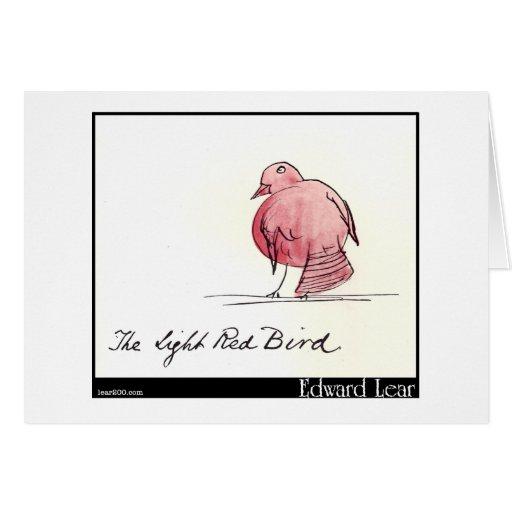 El pájaro rojo claro de Edward Lear Felicitación