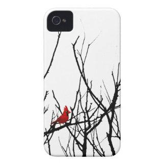 El pájaro rojo por las pimientas de Leslie iPhone 4 Case-Mate Cobertura