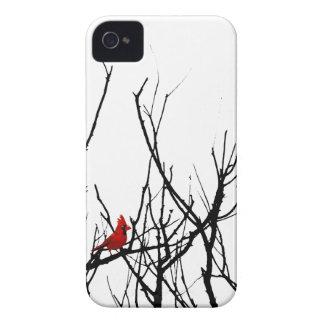 El pájaro rojo por las pimientas de Leslie Case-Mate iPhone 4 Cobertura