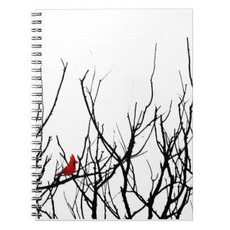 El pájaro rojo por las pimientas de Leslie Cuadernos