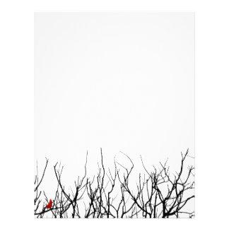 El pájaro rojo por las pimientas de Leslie Membrete A Diseño