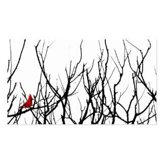 El pájaro rojo por las pimientas de Leslie Tarjeta Personal