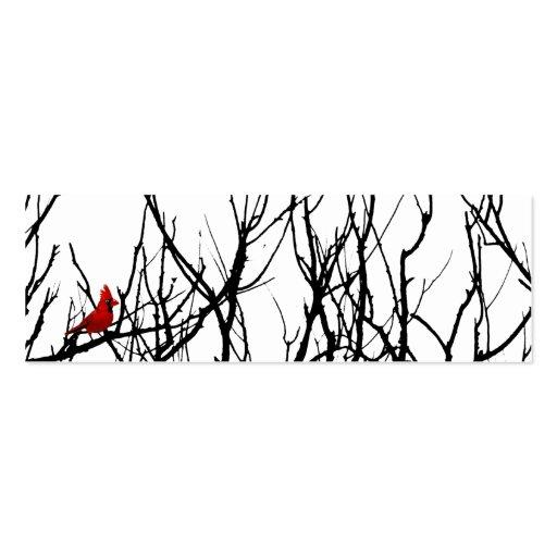 El pájaro rojo por las pimientas de Leslie Tarjeta De Visita