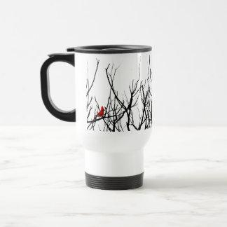 El pájaro rojo por las pimientas de Leslie Taza De Café