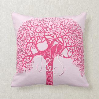 El pájaro rosado del amor del árbol de Swirly elig
