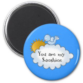 El pájaro Sun del niño usted es mi sol Imán Redondo 5 Cm