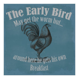 El pájaro temprano póster