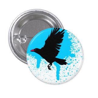 El pájaro voló el botón pin redondo de 1 pulgada