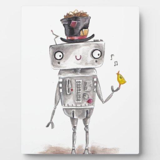 El pájaro y el robot placa