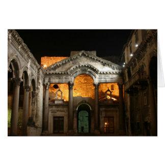 El palacio 2 de Diocletian Tarjeta De Felicitación