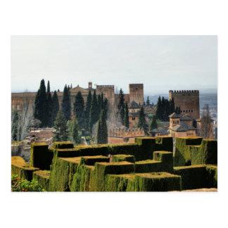 El palacio de Alhambra en España Postal