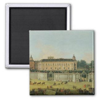 El palacio de Aranjuez, 1756 (aceite en lona) Imán Cuadrado
