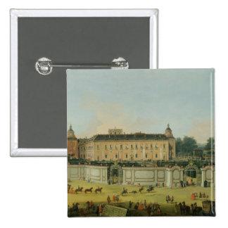 El palacio de Aranjuez, 1756 (aceite en lona) Pin Cuadrado