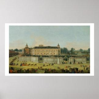 El palacio de Aranjuez, 1756 (aceite en lona) Póster