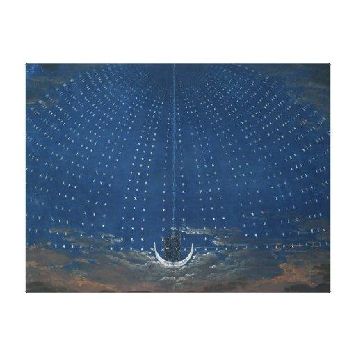 El palacio de la reina de la noche lienzo envuelto para galerías